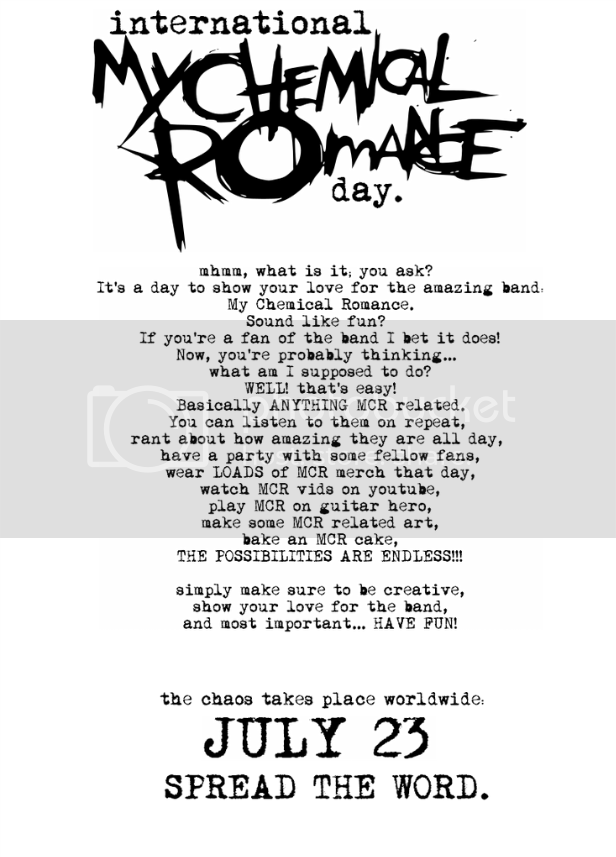 MCR day, celebrate it or die